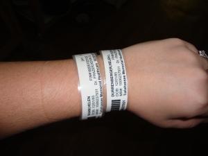 hospital wrist bands